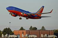 Boise Air Terminal/gowen Fld Airport (BOI) - Early morning Southwest flight leaving BOI. - by Gerald Howard