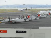 Auckland International Airport - triple trouble on ramp at AKL - by magnaman