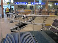 Vancouver International Airport - YVR South Terminal. Model of Vickers Supermarine Stanraer flying boat - by Manuel Vieira Ribeiro