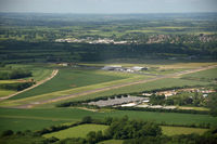 Turweston Aerodrome - Turweston, as seen from Bulldog G-GRRR. - by Howard J Curtis