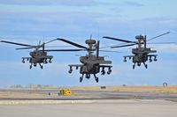 Boise Air Terminal/gowen Fld Airport (BOI) - AH-64s from the 1-183rd AVN BN, Idaho Army National Guard departing Taxiway Bravo.  - by Gerald Howard