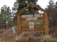 Stevens Field Airport (PSO) - the road sign - by olivier Cortot