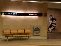 Portela Airport (Lisbon Airport), Portela, Loures (serves Lisbon) Portugal (LPPT) - metro airport station - by JC Ravon - FRENCHSKY