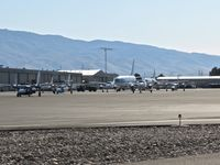 Boise Air Terminal/gowen Fld Airport (BOI) - Numerous aircraft parked on the NIFC ramp during fire season. - by Gerald Howard