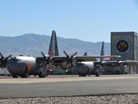 Boise Air Terminal/gowen Fld Airport (BOI) - C-130Hs parked on the NIFC ramp. - by Gerald Howard