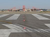 Boise Air Terminal/gowen Fld Airport (BOI) - Approach lights for RWY 10R. - by Gerald Howard