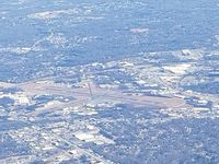 Greenville Downtown Airport (GMU) - From 9,000 feet on an Angel Flight from ATlanta to Winston Salem - by Jim Monroe
