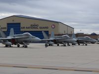 Boise Air Terminal/gowen Fld Airport (BOI) - Canadian F-18s from 409 Squadron, Cold lake, Canada. - by Gerald Howard