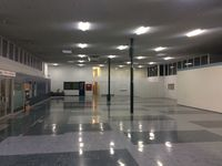 Essendon Airport - Interior of the main Essendon Airport terminal is almost untouched since the 1960s with the original lino floor and fittings.  - by paul jenkins