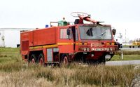 Swansea Airport, Swansea, Wales United Kingdom (EGFH) - Out of service Scammel Nubian Major airport fire tender.  - by Roger Winser