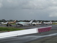 Archerfield Airport - one of many apron parking areas at this great GA field in SW Brisbane - by magnaman