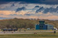RAF Linton-on-Ouse - A view of the newer tower at linton as seen from crash-gate 4 - by Steve Raper