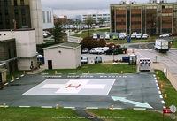 Johns Hopkins Bayview Medical Center Heliport (06MD) - Heliport at Johns Hopkins Bay View Hospital and burn treatment center. - by J.G. Handelman