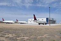 Boise Air Terminal/gowen Fld Airport (BOI) - Three Embraer  Embraer ERJ-175LL parked on the Skywest Maintenance hanger ramp awaiting their turn. - by Gerald Howard