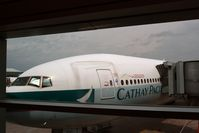 Toronto Pearson International Airport (Toronto/Lester B. Pearson International Airport, Pearson Airport) - Cathay Pacific Boeing 777-300ER docked at Toronto Perason International Airport, Canada - by miro susta