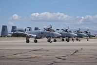 Boise Air Terminal/gowen Fld Airport (BOI) - Four A-10C from the 190th Fighter Sq., 124th Fighter Wing, Idaho ANG awaiting post flight checks. - by Gerald Howard