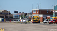 Blackpool International Airport - Apron view at Blackpool - by Clive Pattle