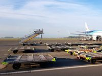 Ostend-Bruges International Airport, Ostend Belgium (EBOS) - Stairway to Heaven,loading equipment, OO-JVA, picture taken by An Van der Elst with permission - by Joeri Van der Elst