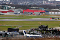 Aberdeen Airport - Airport view - Fire training area in the foreground with BAe Jetstream T.2 and Sepecat Jaguar on show. - by Clive Pattle