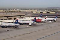 Phoenix Sky Harbor International Airport (PHX) - Sky Harbor back in the US Airways days. - by Dave Turpie