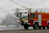 Châteaudun Airport - Fire truck displayed, Châteaudun Air Base 279 (LFOC) - by Yves-Q