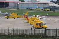 Norwich International Airport - NHV Helicopters share the Saxon Ramp
