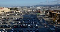 San Francisco International Airport (SFO) - Tram being built for long term and rental car parking areas. SFO 2018. - by Clayton Eddy