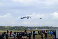 Kleine Brogel Air Base - Ilyushin Il-76 and 2 Sukhoi Su-27 flypast at the 2018 BAFD Spottersday at Kleine Brogel airbase - by Ingo Warnecke