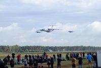 Kleine Brogel Air Base Airport, Kleine Brogel Belgium (EBBL) - Ilyushin Il-76 and 2 Sukhoi Su-27 flypast at the 2018 BAFD Spottersday at Kleine Brogel airbase - by Ingo Warnecke