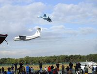 Kleine Brogel Air Base Airport, Kleine Brogel Belgium (EBBL) - Ilyushin Il-76 and Sukhoi Su-27 flypast at the 2018 BAFD Spottersday at Kleine Brogel airbase - by Ingo Warnecke
