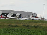 Outagamie County Regional Airport (ATW) - busy ramp during EAA 18 - by magnaman