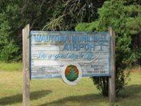 Wautoma Municipal Airport (Y50) - entrance sign to carp park and club house - by magnaman