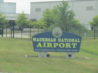 Waukegan Regional Airport (UGN) - entry sing on way into airport - by magnaman