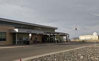 Yellowstone Regional Airport (COD) - Passenger terminal of Yellowstone reg. airport, Cody WY - by Jack Poelstra