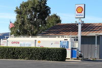 Santa Paula Airport (SZP) - Santa Paula SHELL 100LL Self-Serve Fuel Dock, no price change - by Doug Robertson