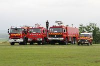 La Ferté-Alais Airport - Fire trucks, La Ferté Alais Airfield (LFFQ) - by Yves-Q