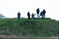 RAF Coningsby - Spotters on the southside hump at RAF Coningsby. - by Clive Pattle