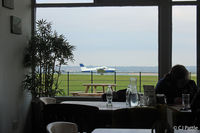 Compton Abbas Airfield - Nice cafe with full views of the airfield activities - by Clive Pattle
