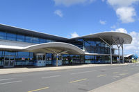 Guernsey Airport, Guernsey, Channel Islands United Kingdom (GCI) - Passenger terminal of Guernsey airport - by Jack Poelstra