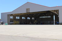 Camarillo Airport (CMA) - Another view of the Ventura County Fire Department Helicopter Unit that has now taken over the entire hangar and added foreground ramp. Formerly just in west end & west ramp. - by Doug Robertson