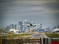 London City Airport - British Airways airliner coming in to land at London City Airport - by Yellow 14 Photography