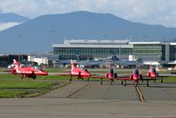 Vancouver International Airport - Red Arrows 2019 North American tour - by Manuel Vieira Ribeiro