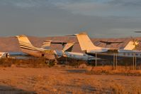 California City Municipal Airport (L71) - Just a few miles from MHV is California City. A small boneyard specialized in Gulfstream aircraft. - by FerryPNL