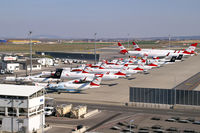 Vienna International Airport - Austrian Airlines' storage due to corona-crisis - by Thomas Ramgraber